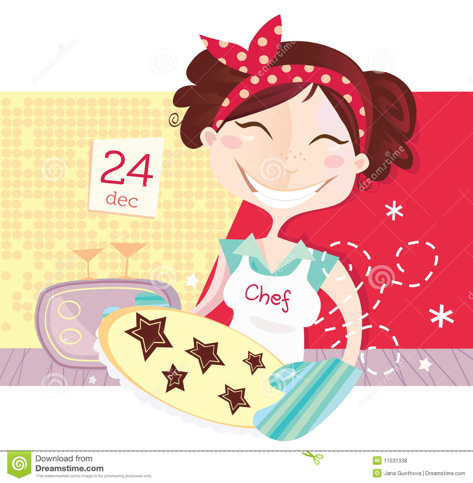 Woman is making christmas cookies