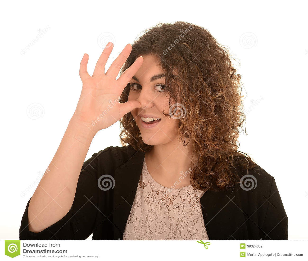 Woman Making A Rude Gesture Stock Photo Image 38324002