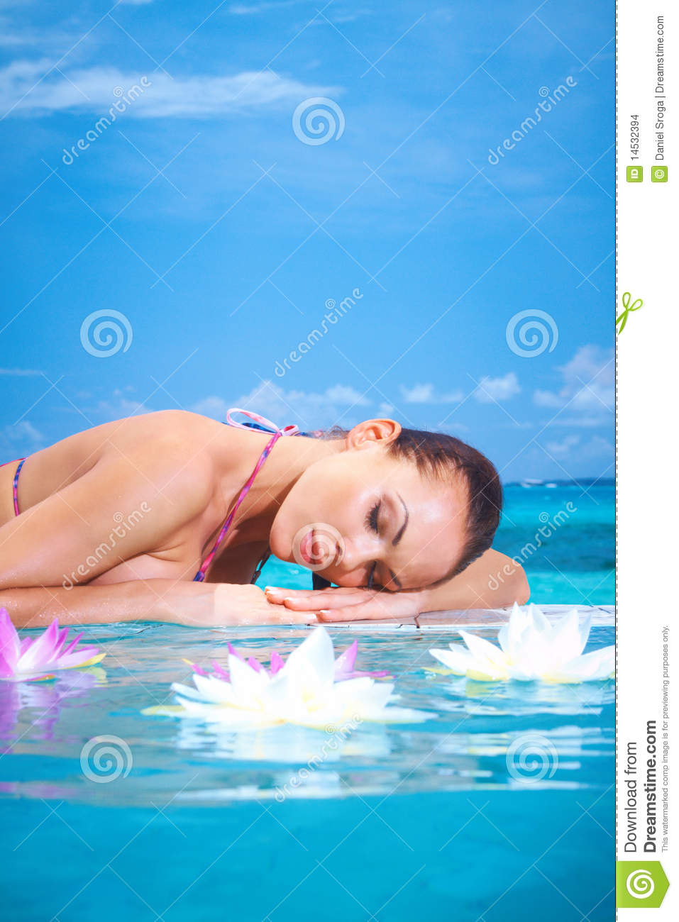 Woman At Maldives Stock Images - Image: 14532394