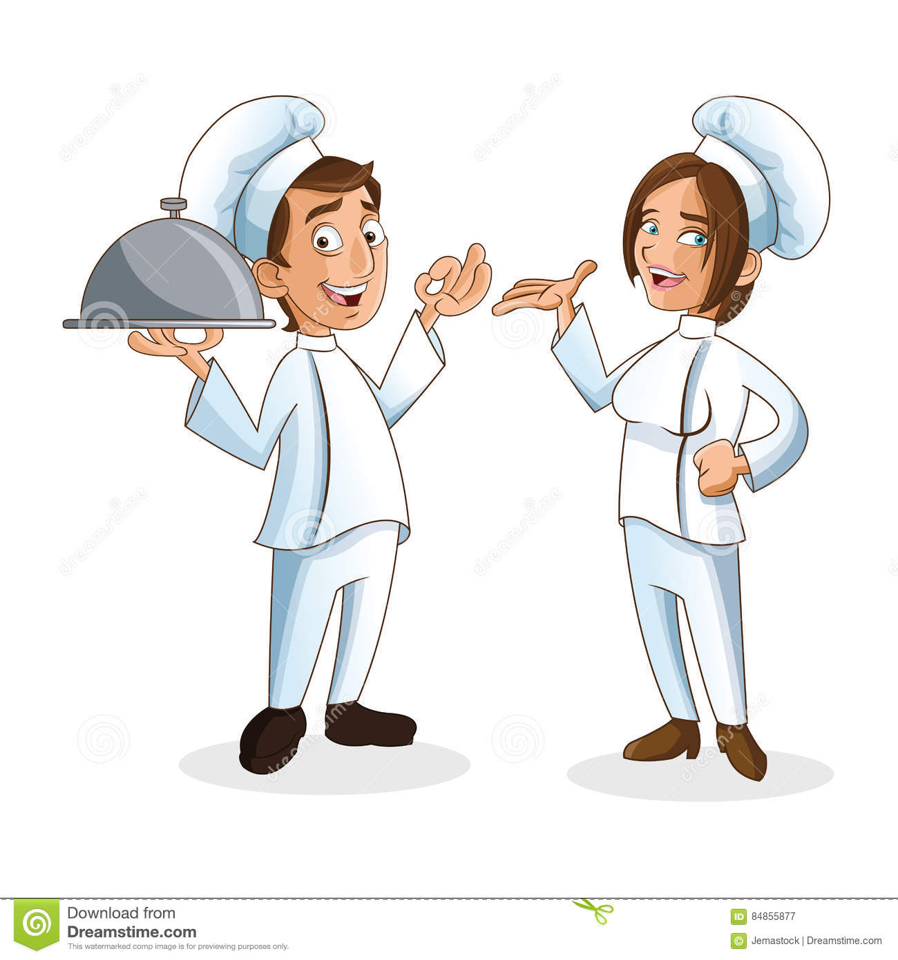 Woman And Man Chefs People Design Stock Vector