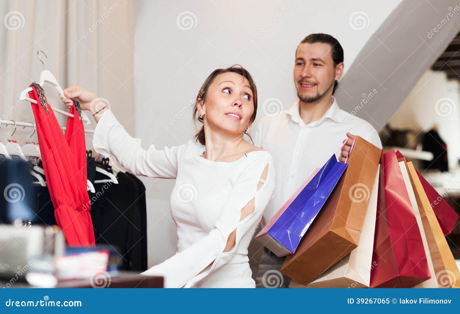 8a5fec8ba891 Woman Man Choosing Dress Clothing Shop Stock Images - Download 70 Royalty  Free Photos