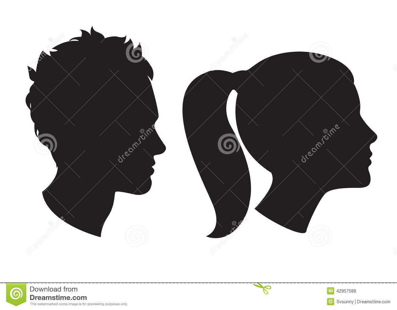 Man Woman Silhouette Profile