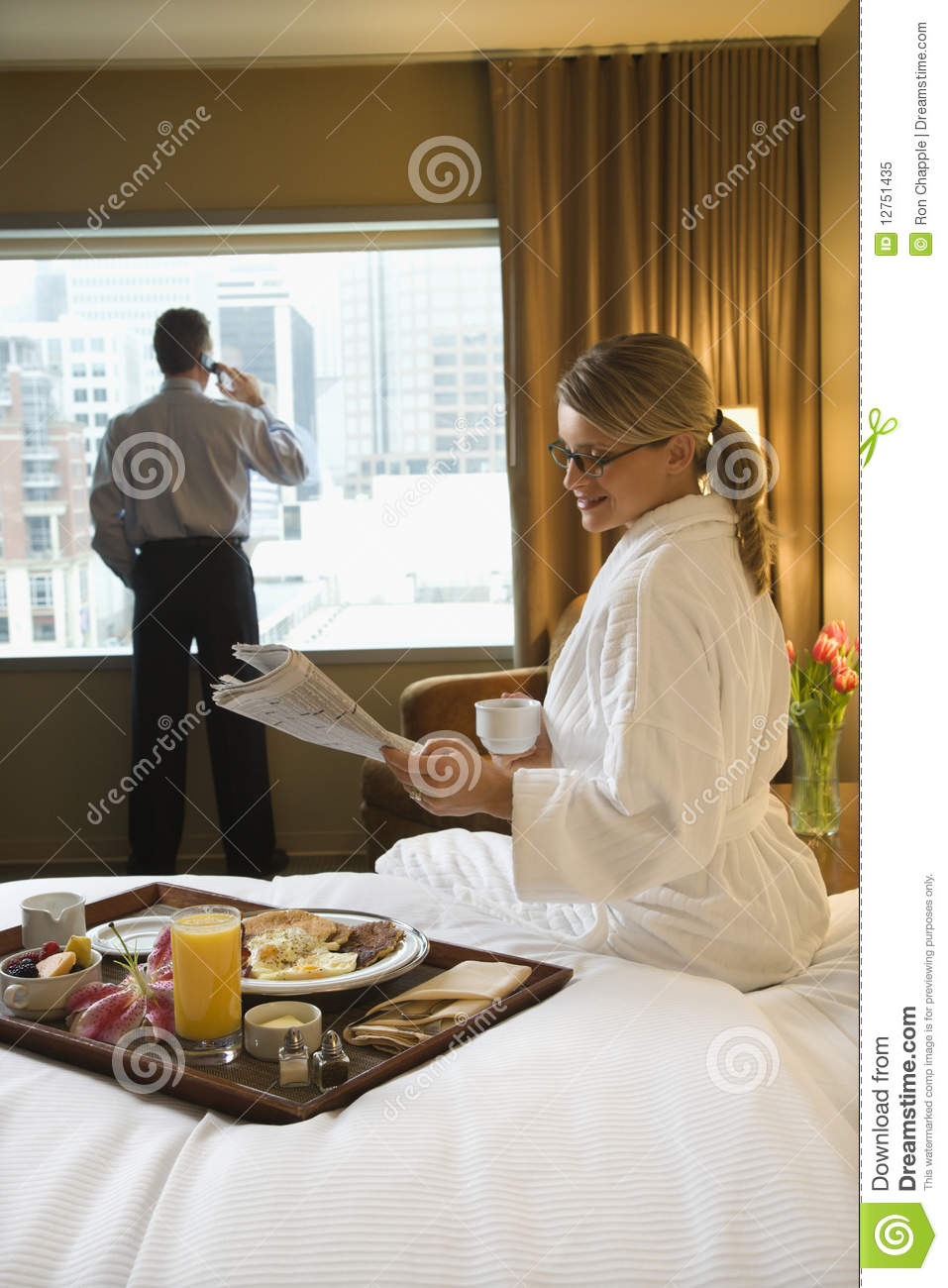 woman and man in hotel room stock image image of hair