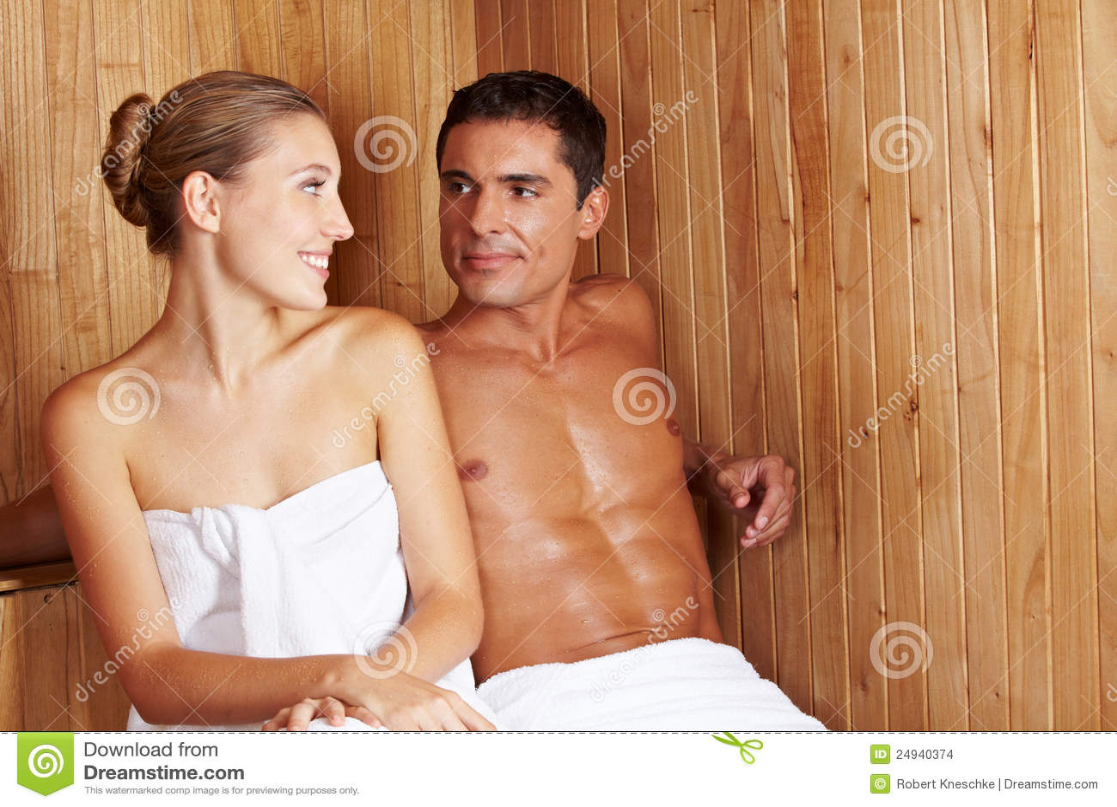 Sauna flirt