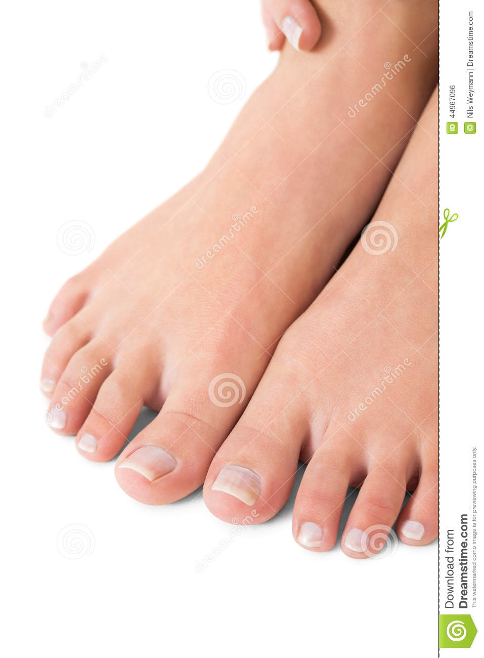 Woman With Manicured Natural Nails Stock Photo