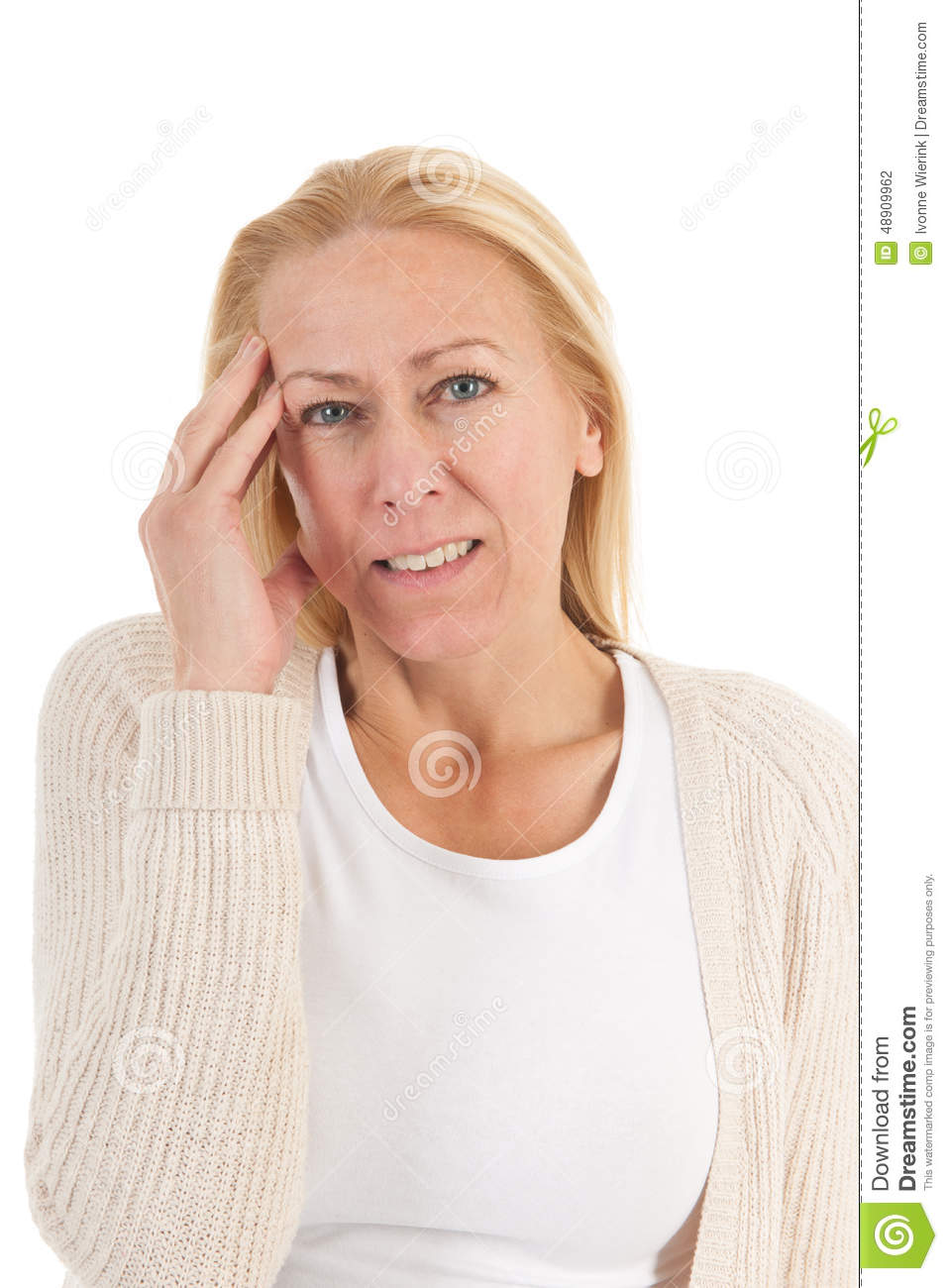 Woman Of Mature Age With Headache Stock Photo Image Of Mature