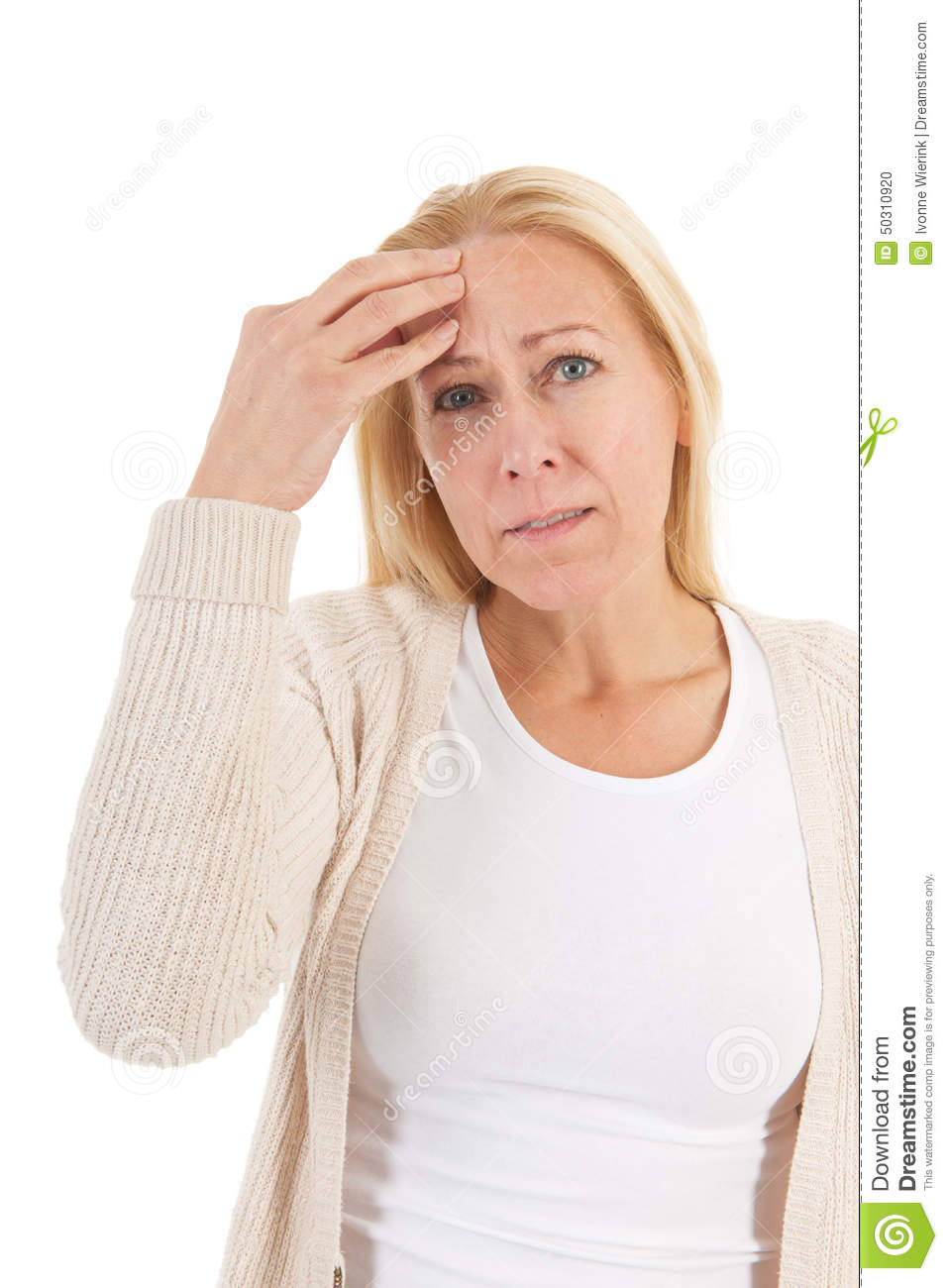 Woman Of Mature Age With Headache Stock Photo Image Of Headache