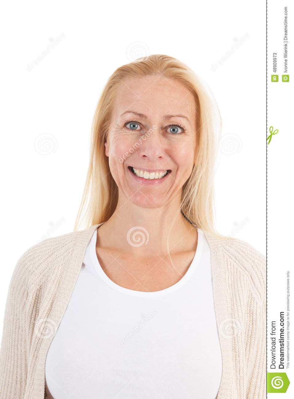 Woman Of Mature Age Looking Up Stock Image Image Of Mature Adult