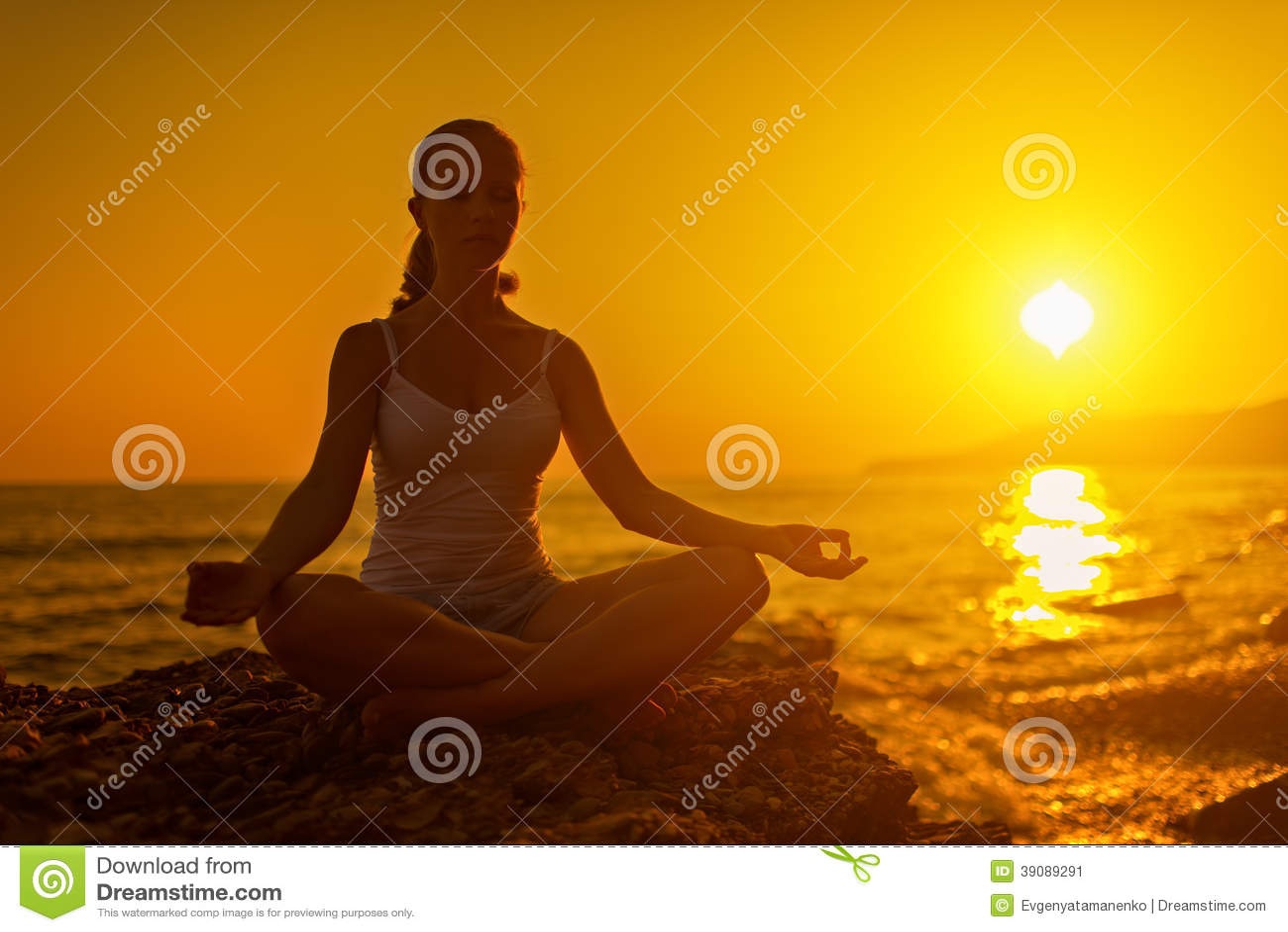 Woman In Lotus Fish Yoga Posture Matsyasana Royalty Free