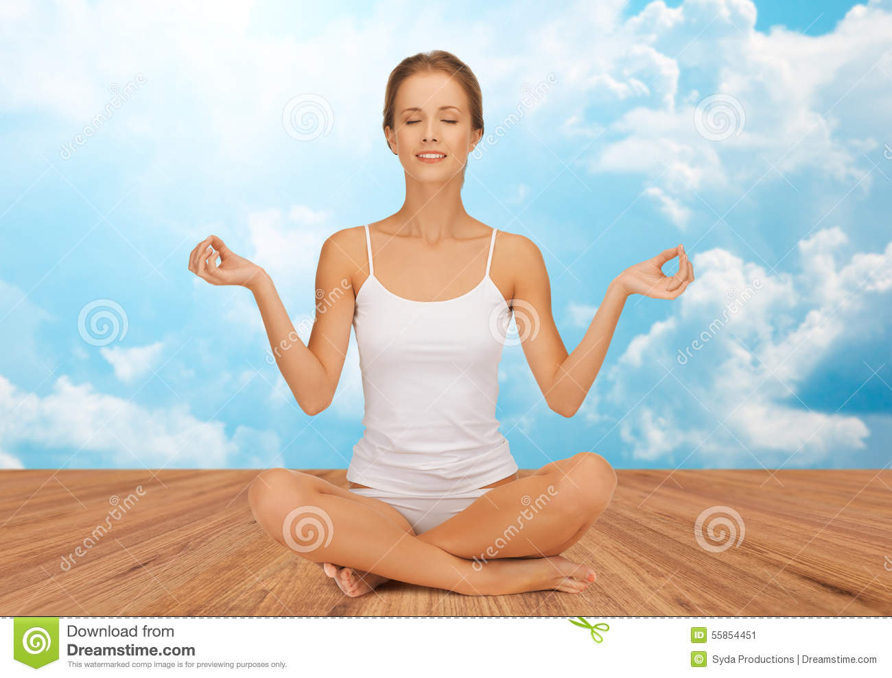 Lotus pose is a guarantee of health 44