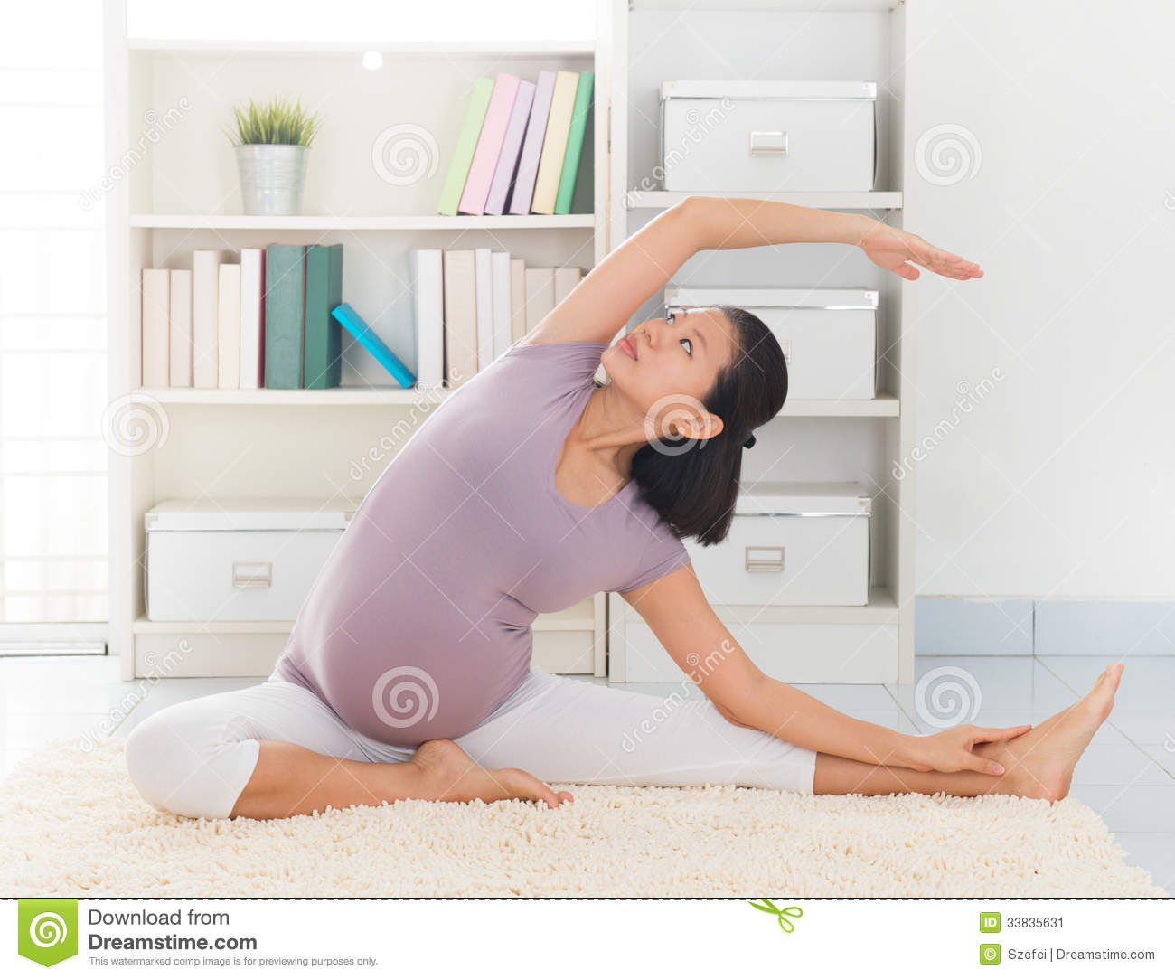 Woman Meditation Yoga At Home Stock Image