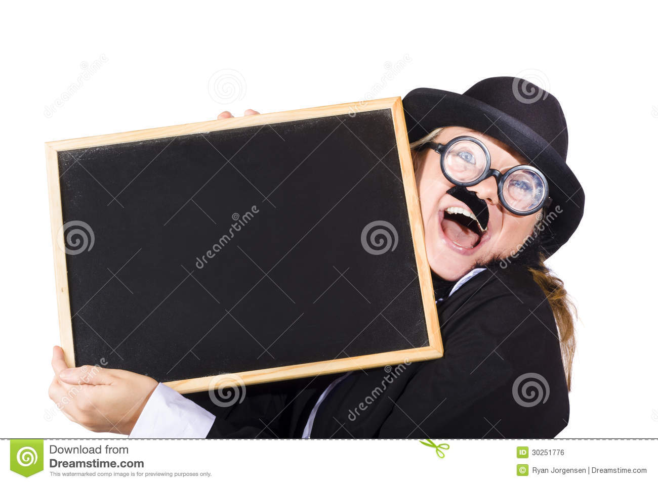 Woman With Blackboard Royalty Free - 92.3KB