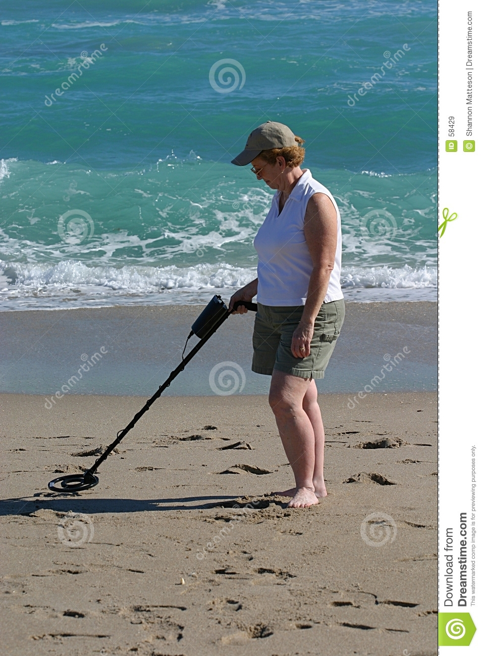 Jew Detector: Woman With Metal Detector Stock Image. Image Of Hunter