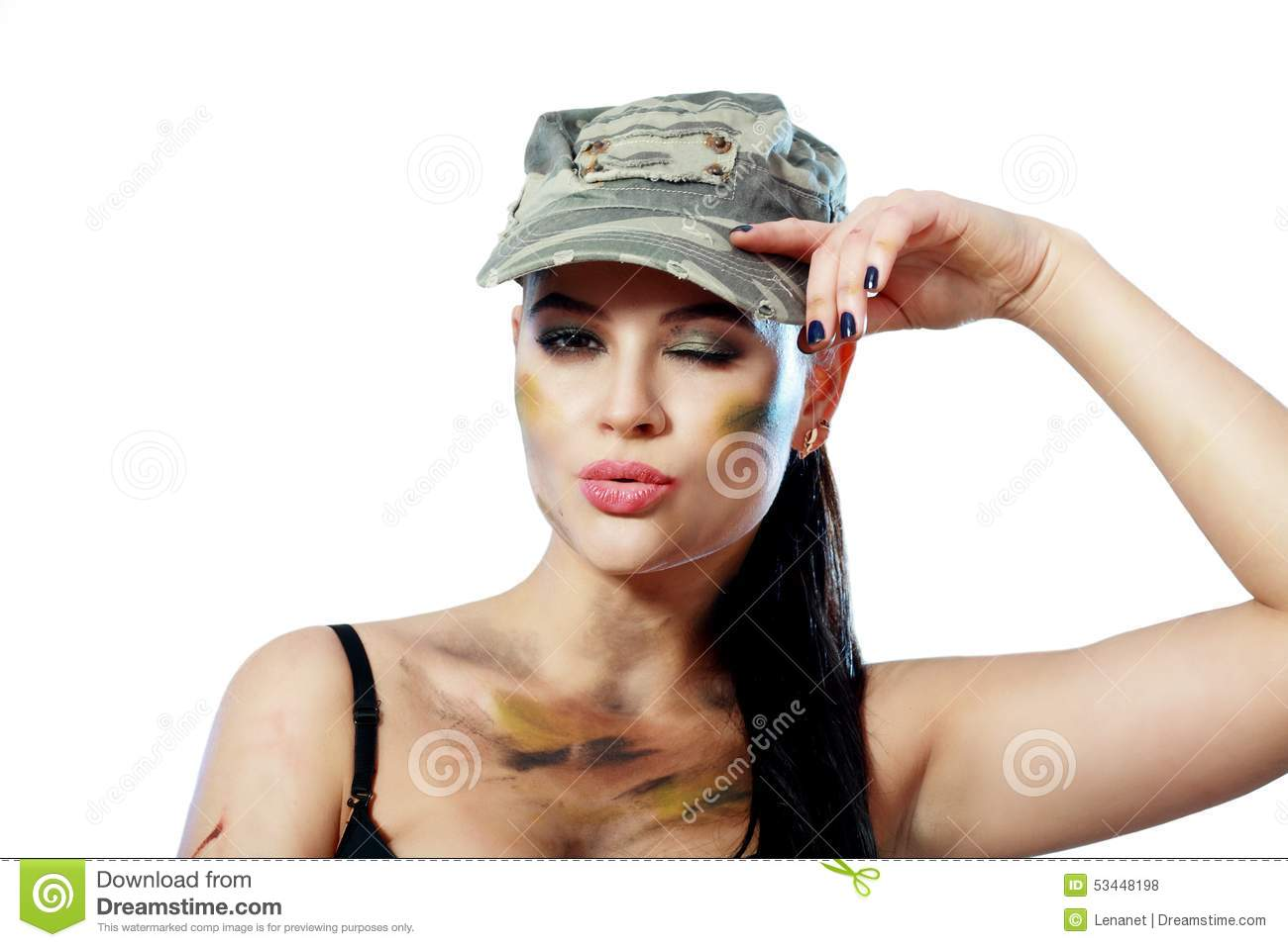Woman In Military Stock Photo Image Of Security, Khaki -7633