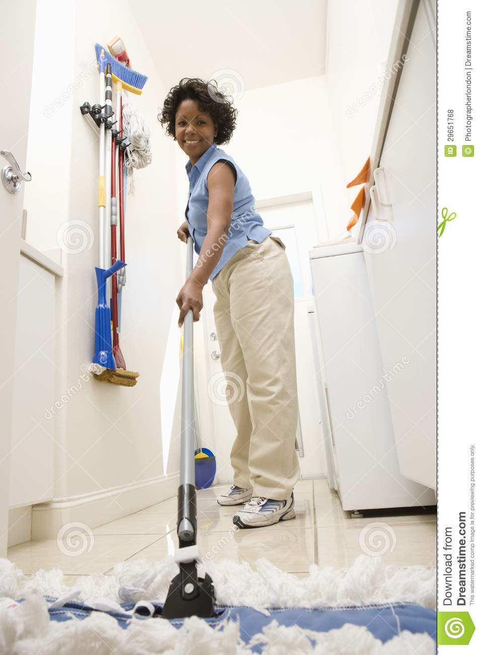Mopping Kitchen Floor Woman Mopping The Floor Royalty Free Stock Photos Image 29651768