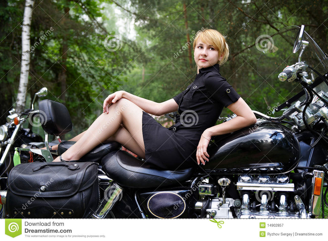 Woman On Motorcycle Royalty Free Stock Photography Image