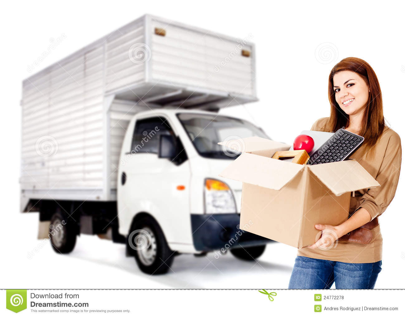 Woman moving house stock photo image of lifestyle pack When is the best time to move house