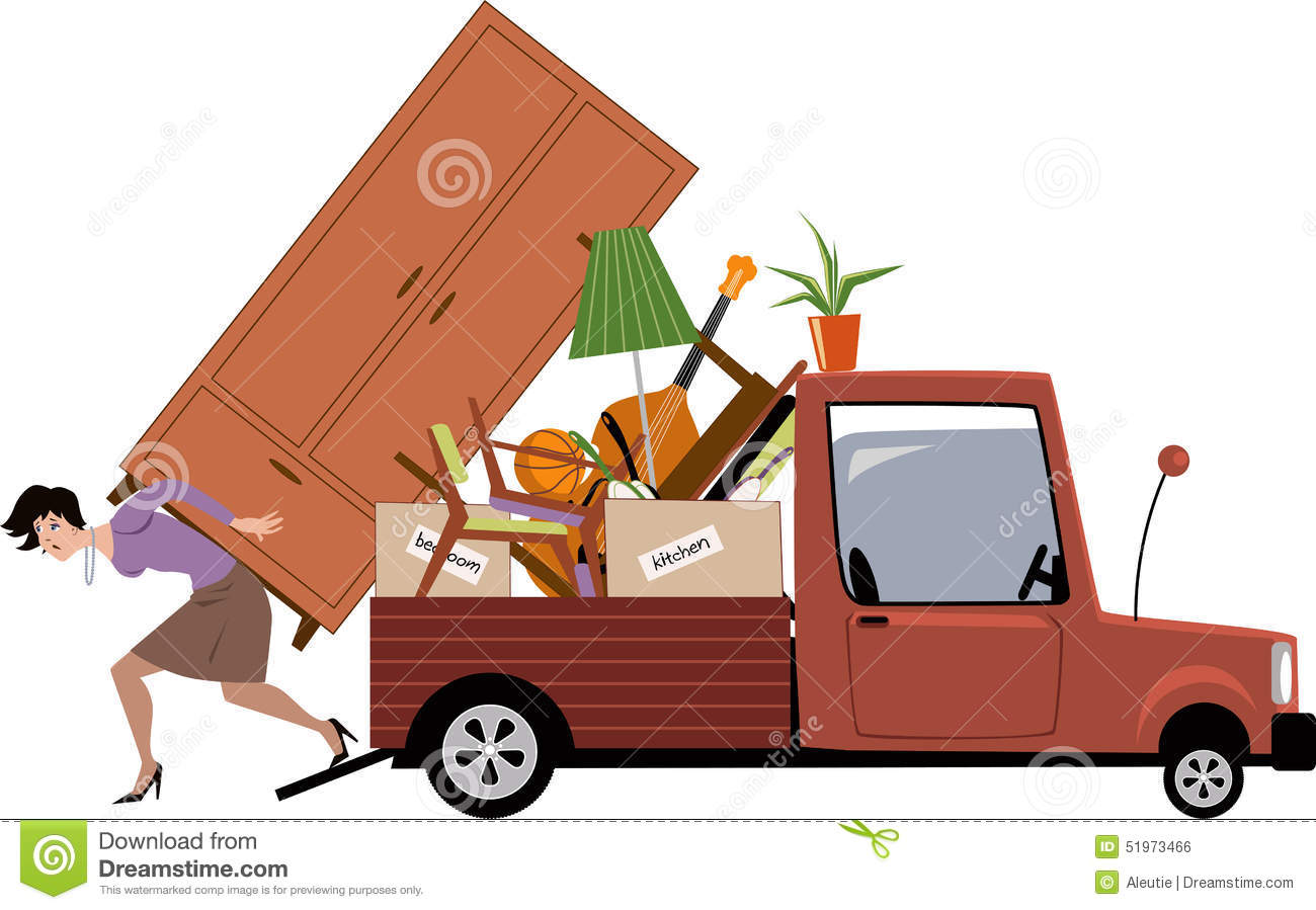Woman Moving Stock Vector Image 51973466