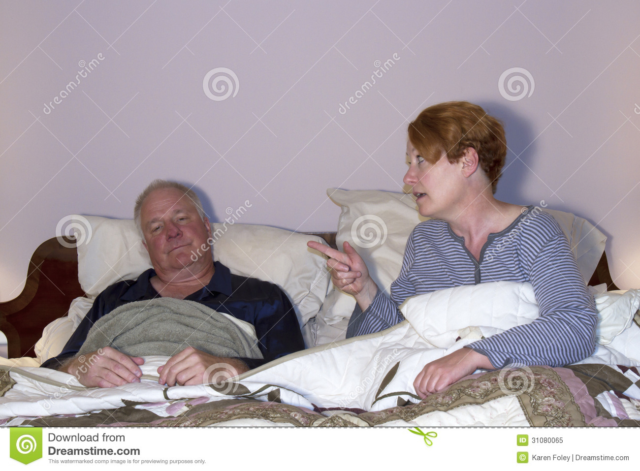 woman nagging husband in bed royalty free stock photo Doing Homework Clip Art Irritated Clip Art