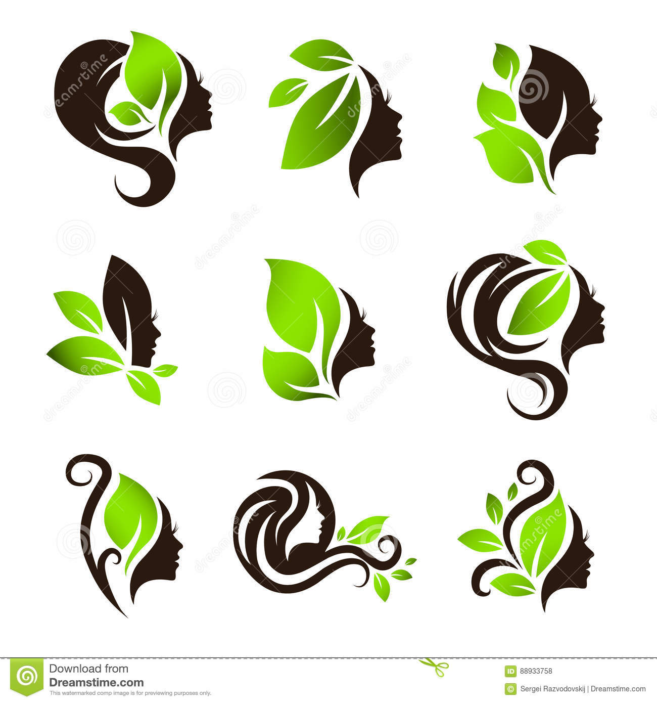 Natural Hair Care Clipart