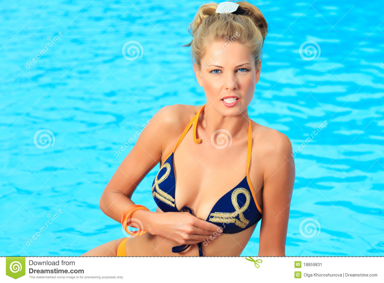 Woman near swimming pool stock image image 18859831 - Where is my nearest swimming pool ...