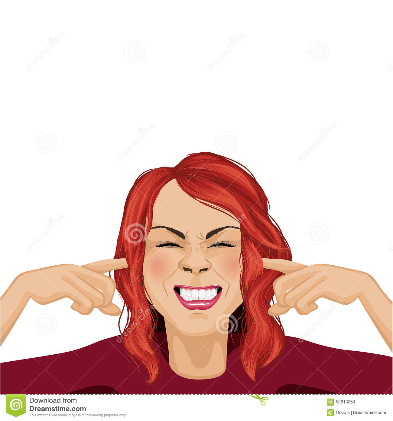 Woman And Noise Stock Vector - Image: 58813264