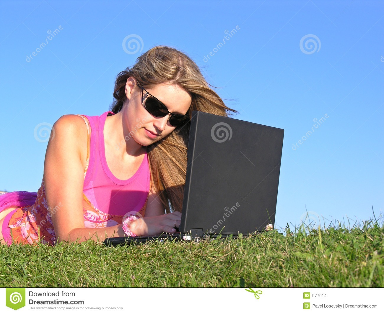 Download Woman with notebook stock photo. Image of grass, lady, profit - 977014