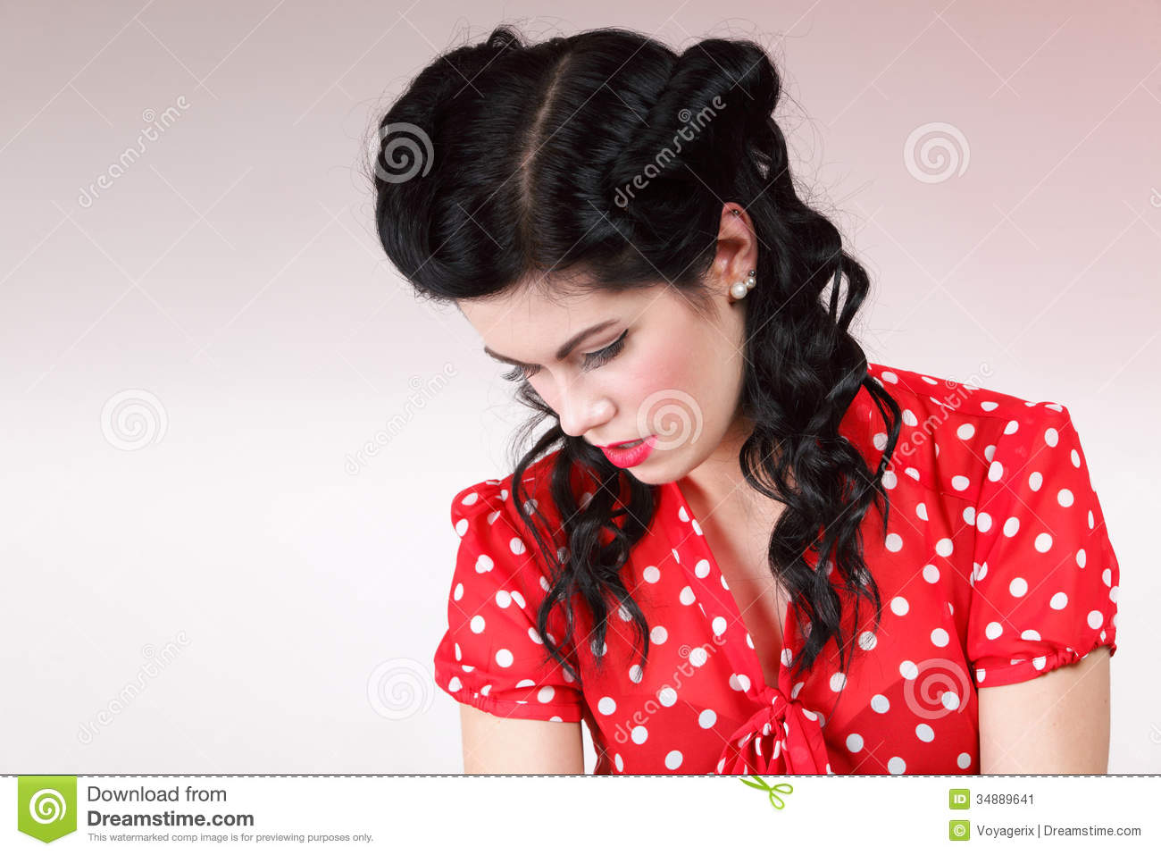 Woman in old fashion clothes retro style stock image for What is retro style