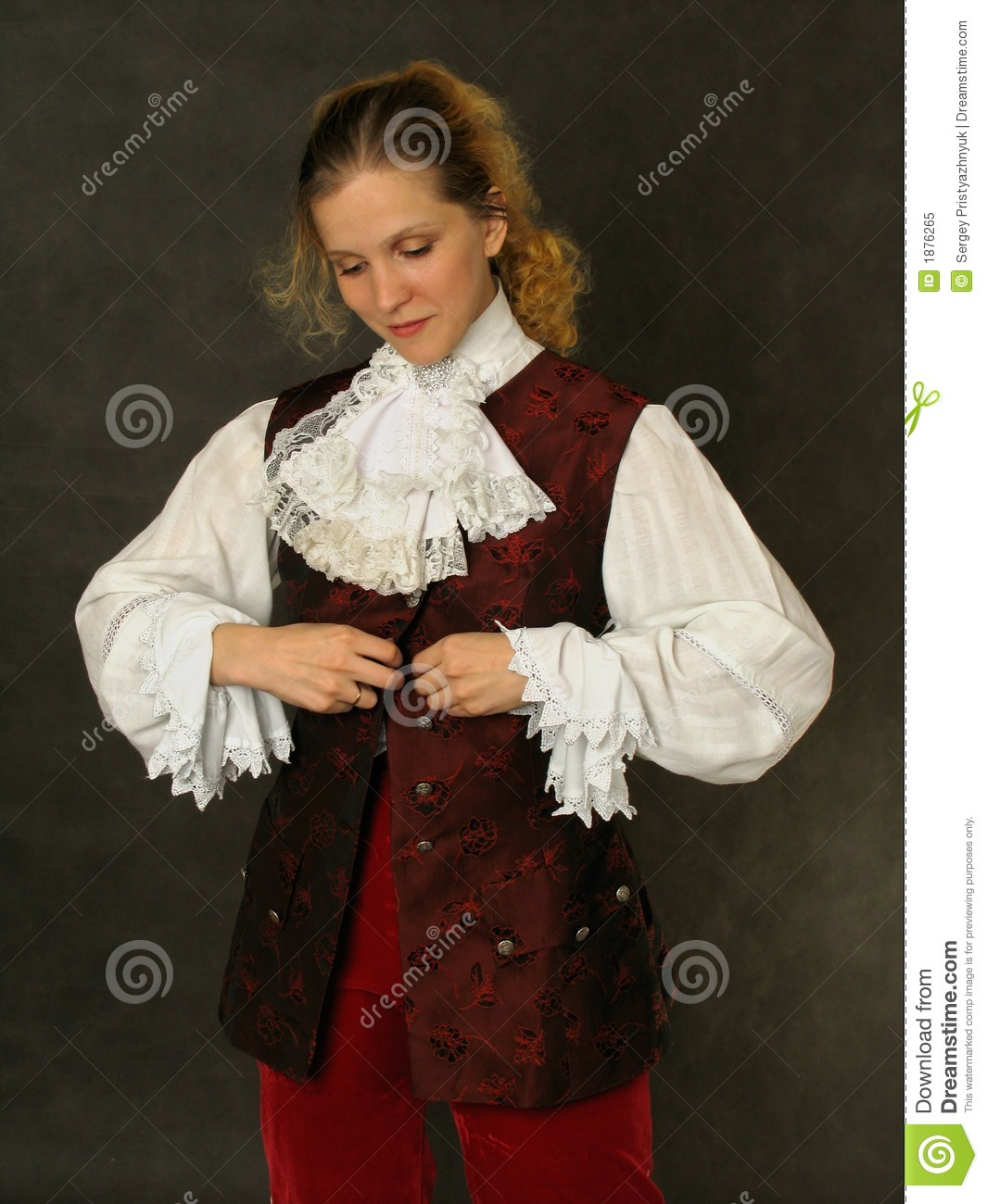 Royalty Free Stock Photo: Woman in old french clothes