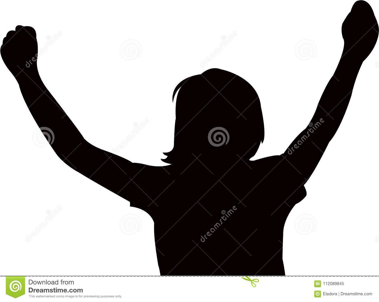 a woman open her arms, silhouette vector stock vector - illustration of  silhouette, black: 112089845  dreamstime.com