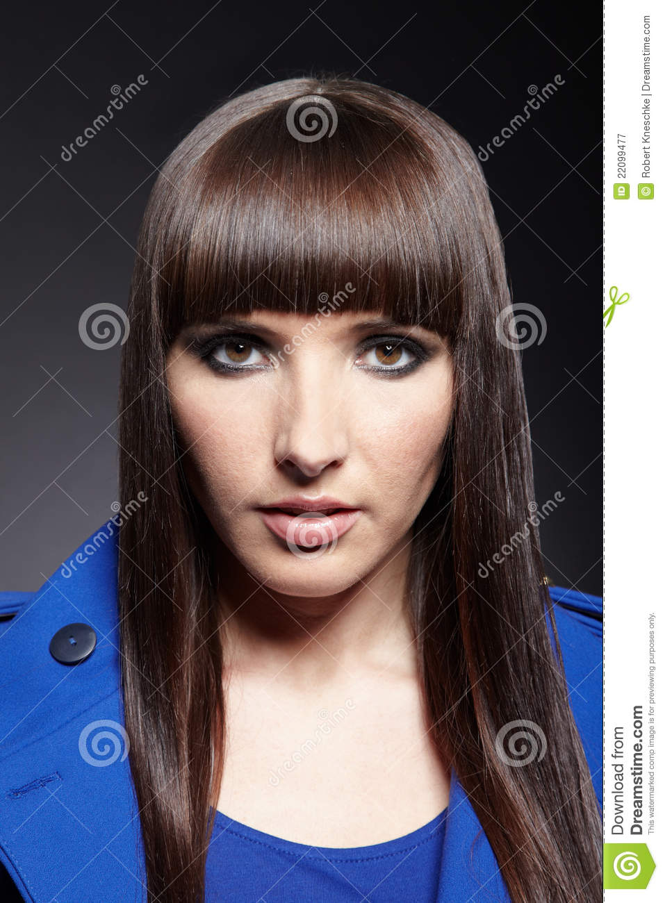 Woman With Pageboy Haircut Stock Image Image Of Looking 22099477