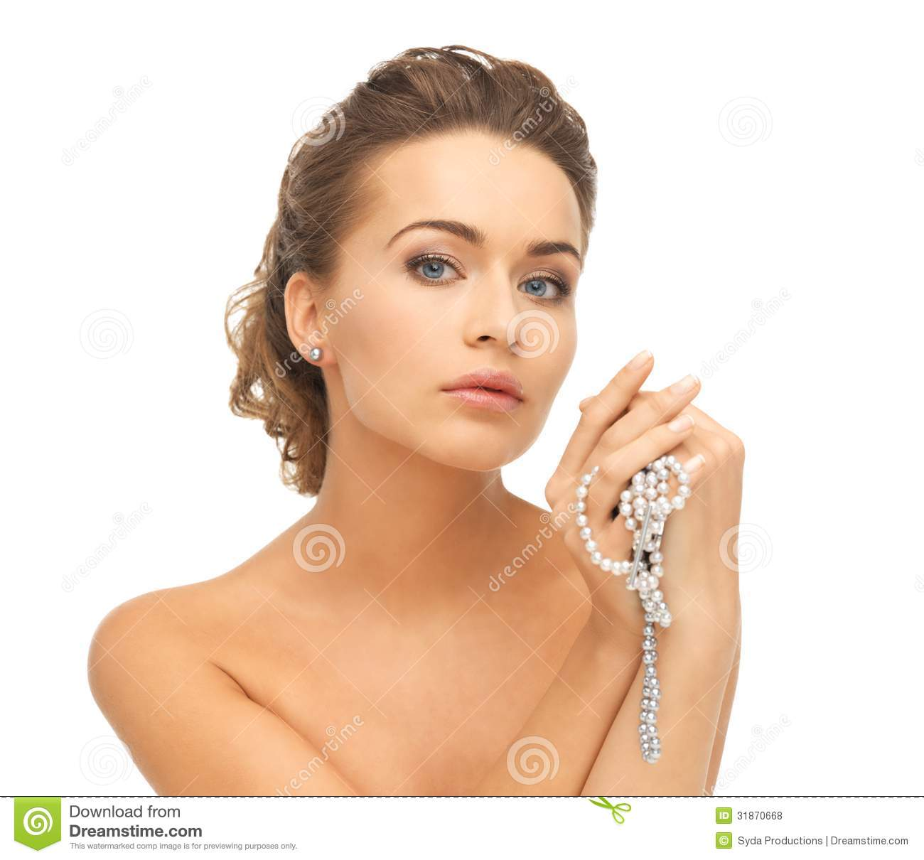 Necklace Beautiful Woman On 32