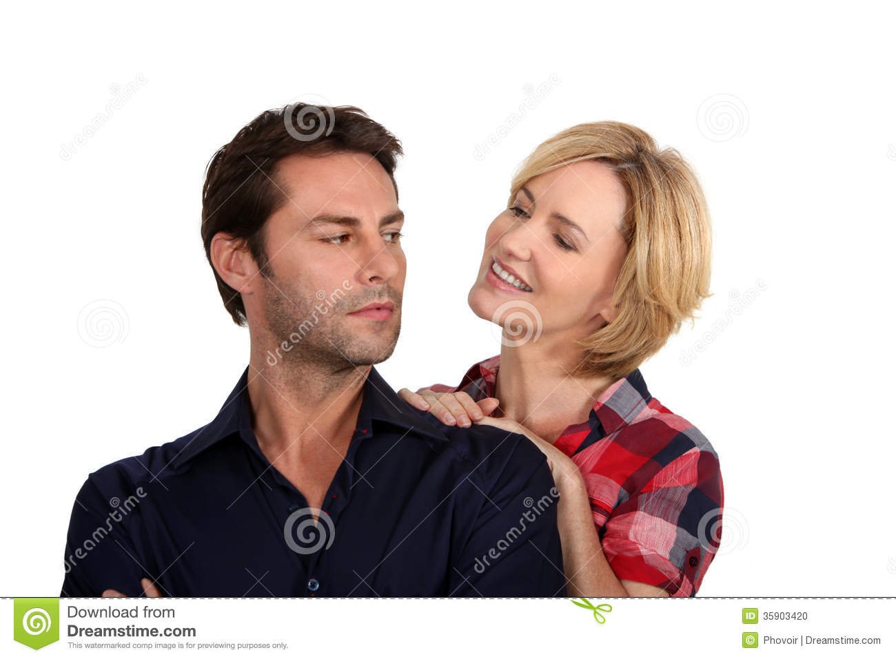 Woman persuading her husband