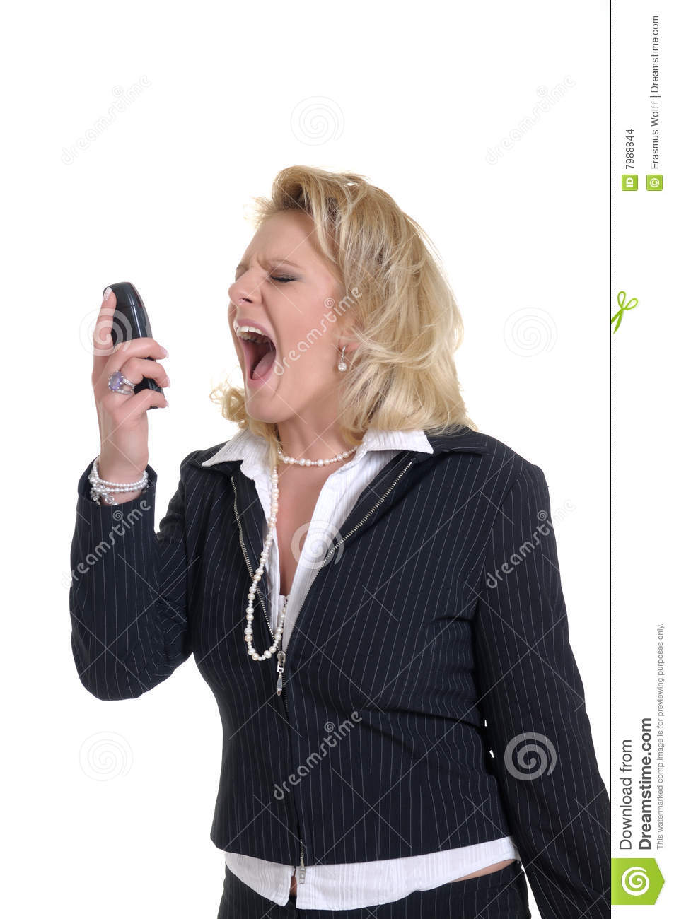 Woman with phone stock photo  Image of blonde, communicate