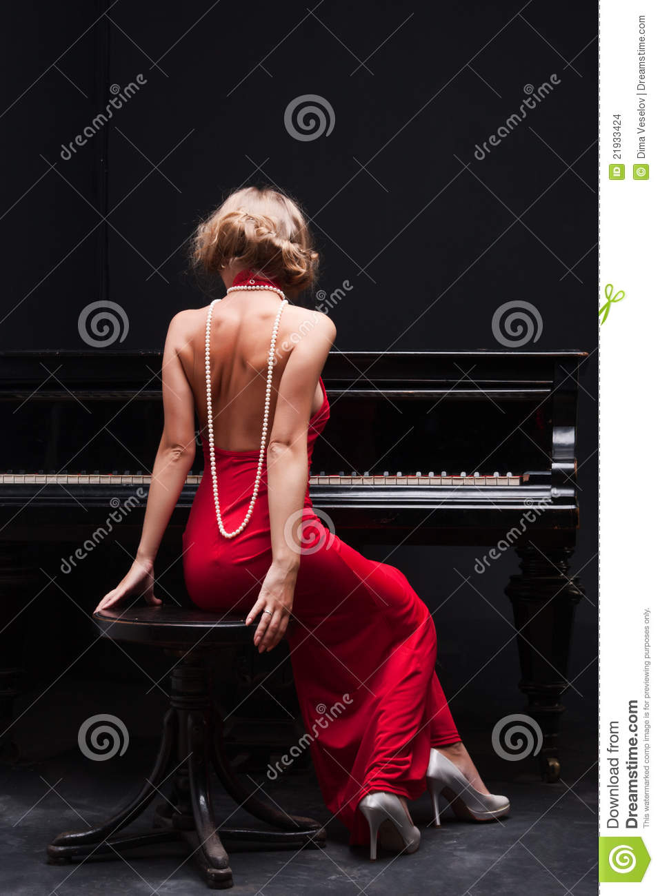 Woman And Piano Stock Images Image 21933424