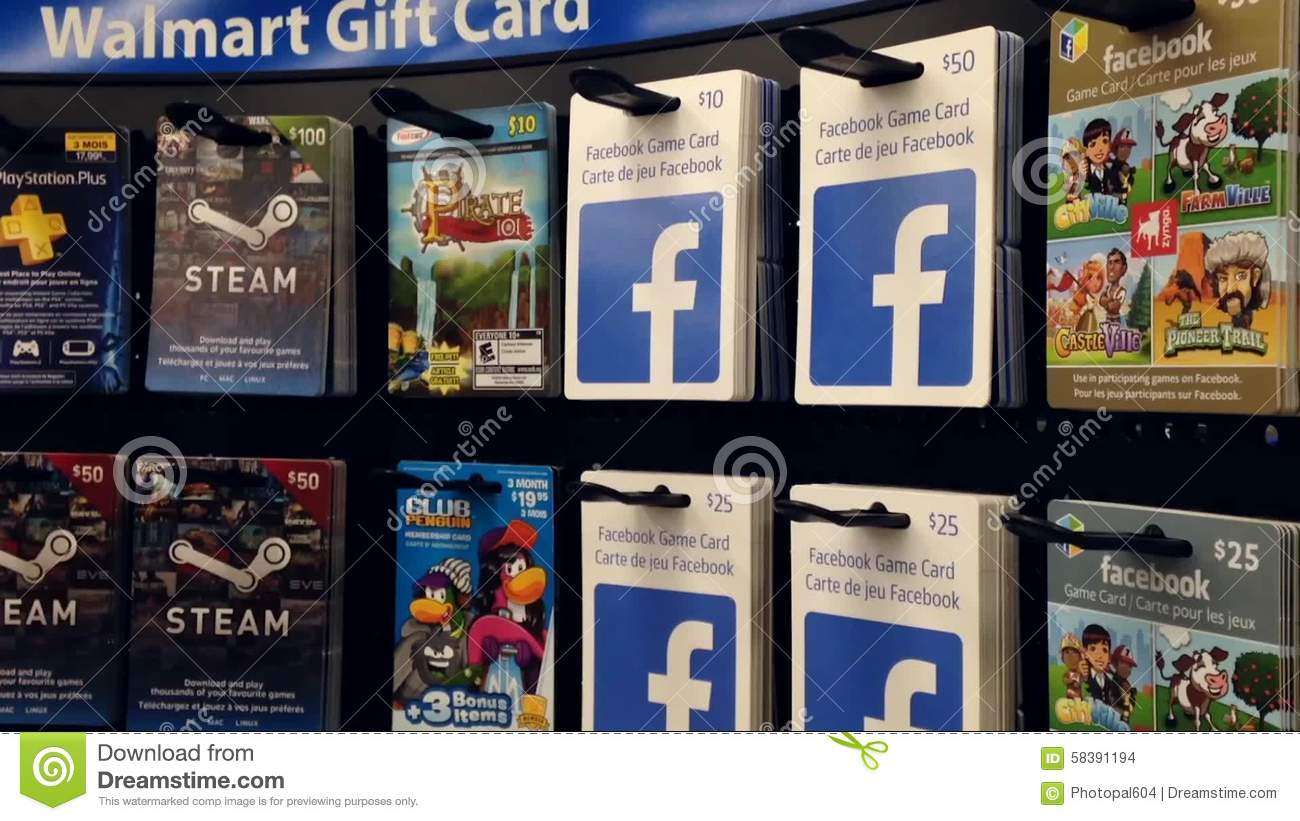 Woman Picking The Facebook Game Gift Card Stock Footage