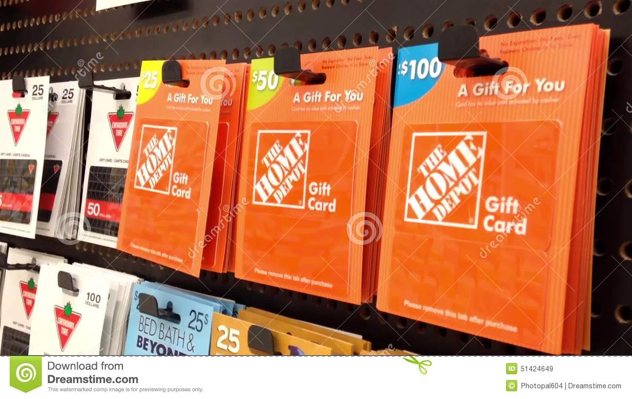 Woman Picking The Homedepot Gift Card Stock Video - Video: 51424649
