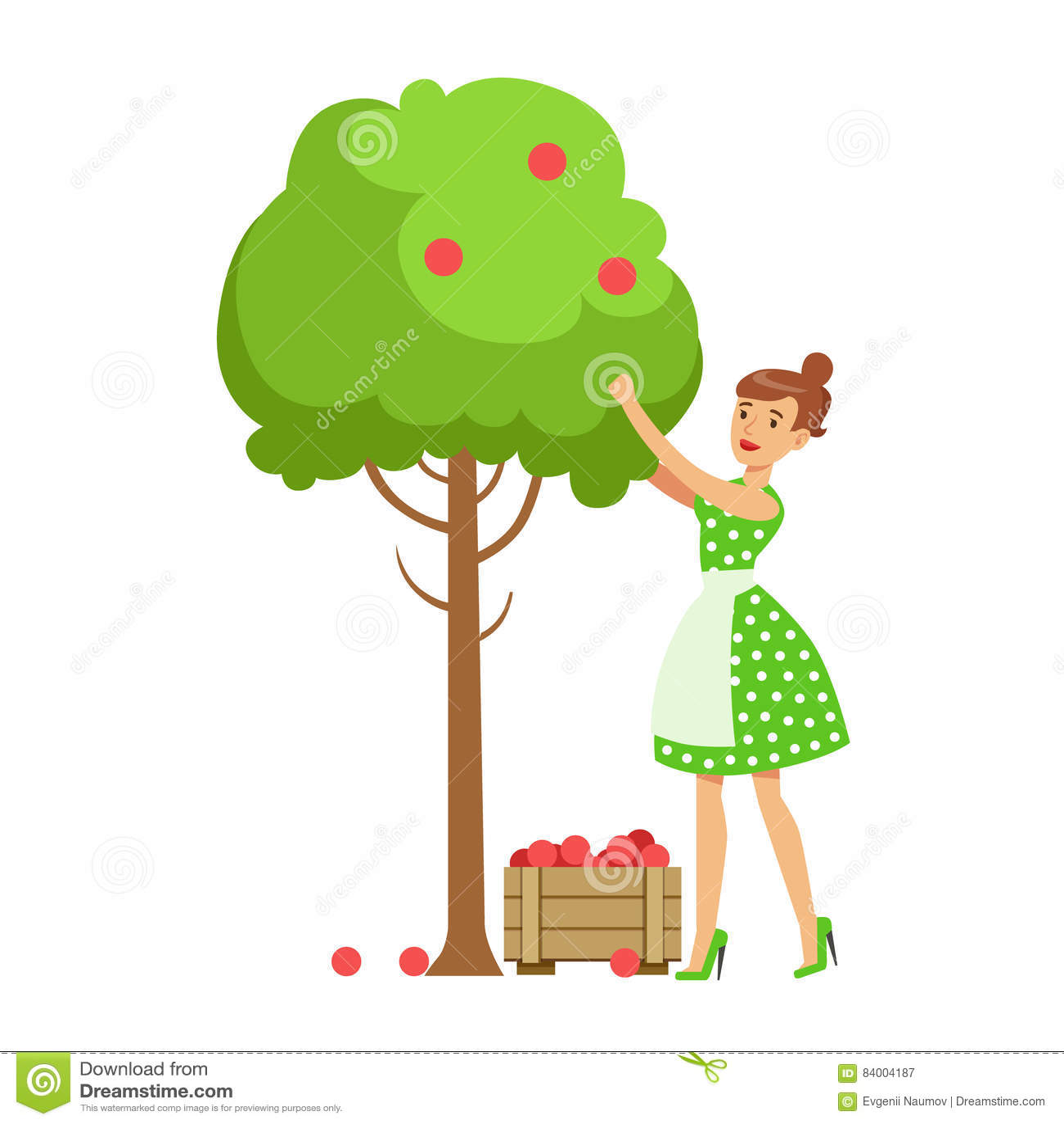 Picking Apples Stock Illustrations – 183 Picking Apples Stock ...