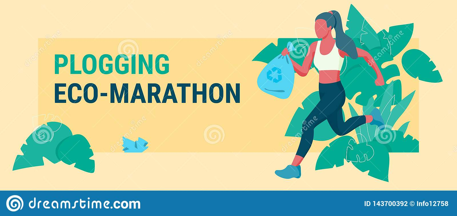 Woman picking up litter during plogging marathon
