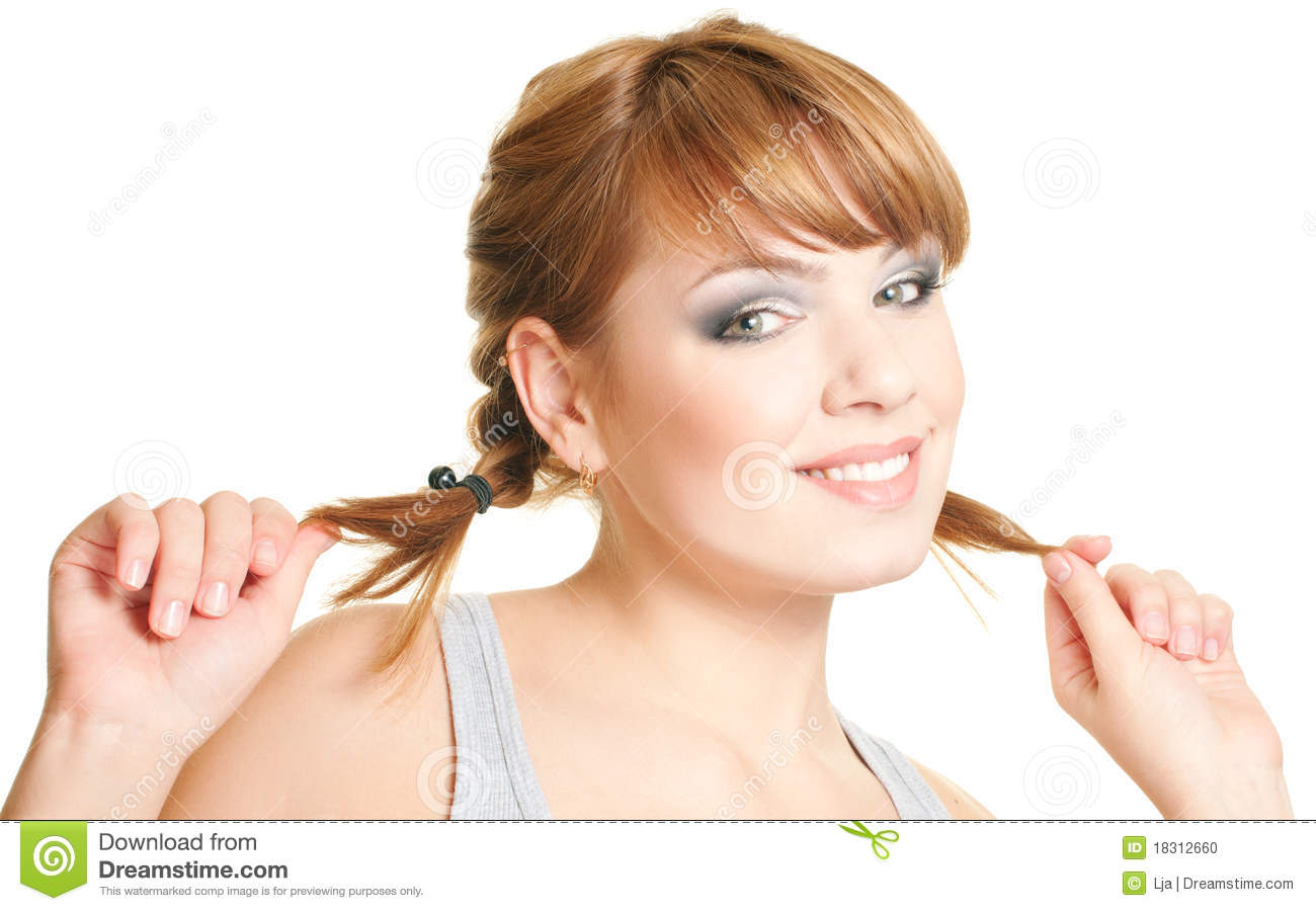 Woman With Pigtails Stock Photo - Image: 18312660
