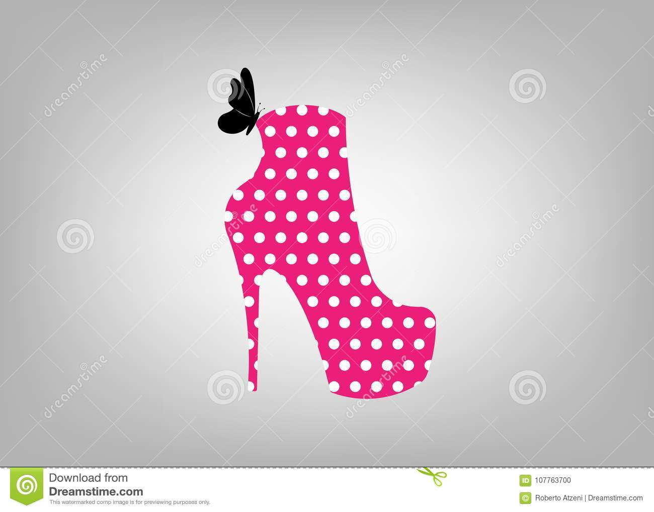 b6c0dce4364 Woman Pink Boots On High Heels, Side View, Logo Shoe Store, Shop ...
