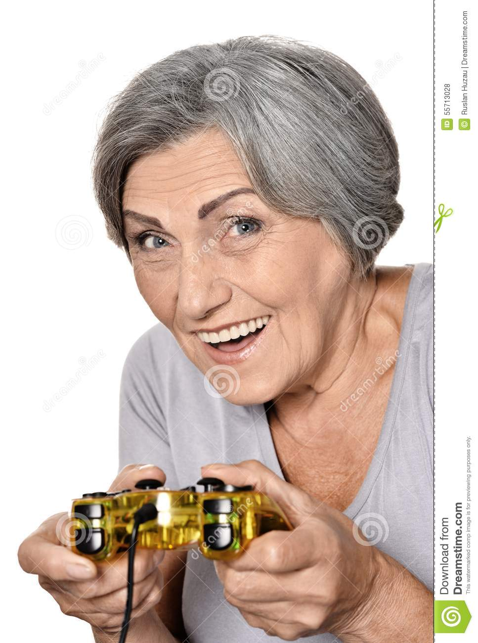 Woman Play Video Game Stock Photo Image Of Alone Game 55713028