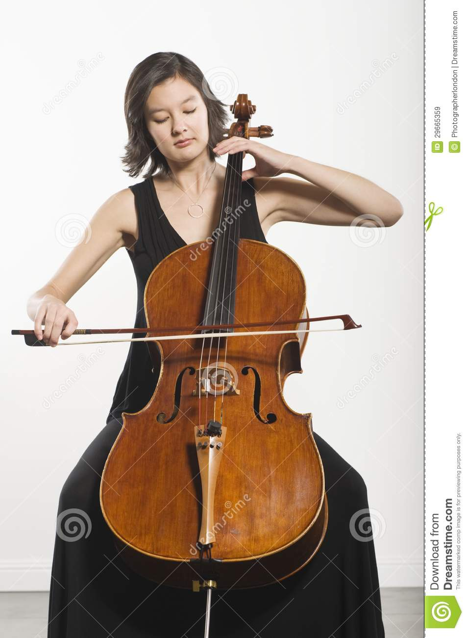 Royalty Free Stock Images Woman Playing Cello Image29665359 on Situation Clipart