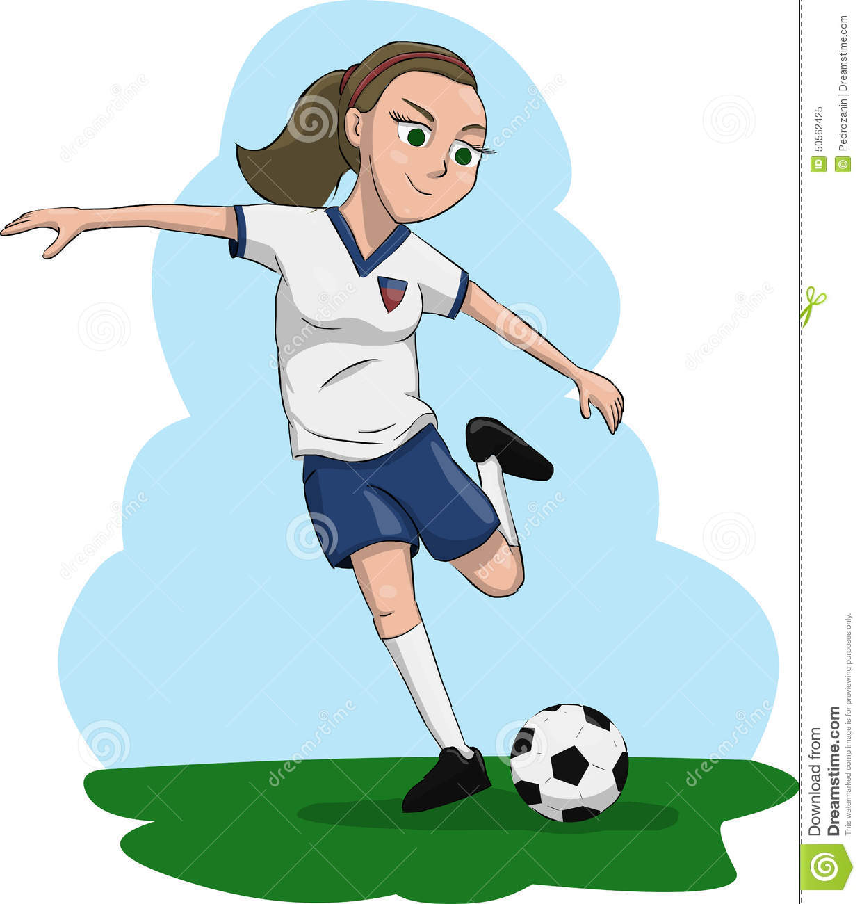 woman playing soccer stock illustration image 50562425 football player clipart silhouette football player clipart lineman
