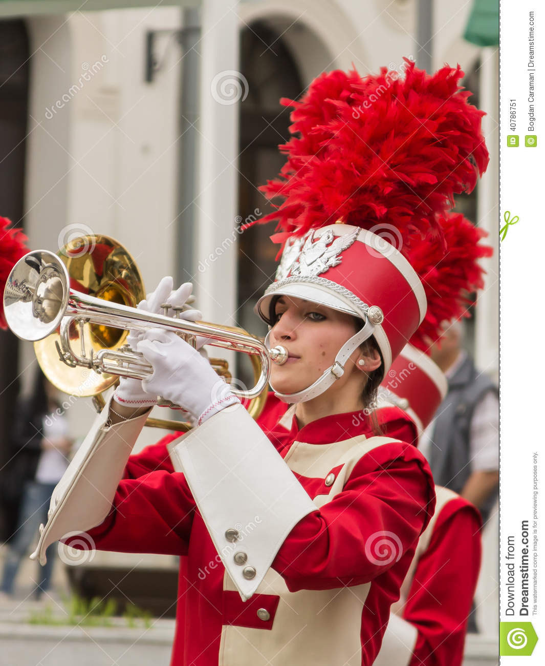 A Woman Playing Trumpet Editorial Photo Image 40786751