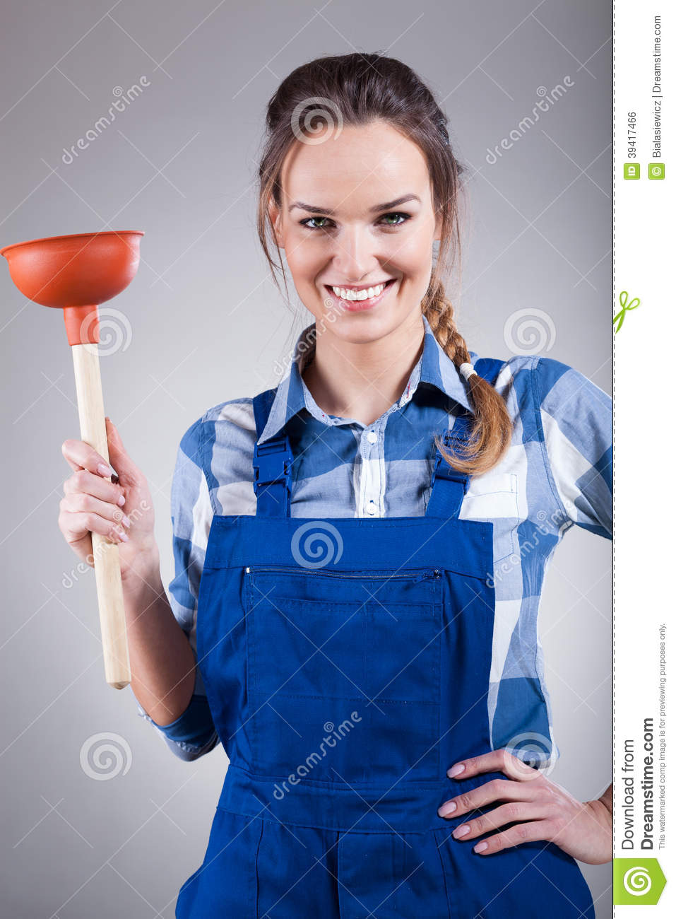 Woman With A Plunger 49