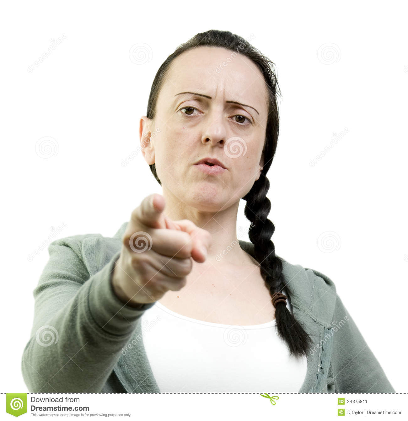 Woman Pointing Stock Image - Image: 24375811