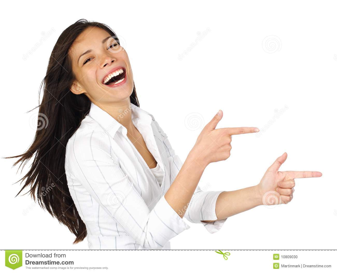 woman pointing laughing stock photo image 10809030