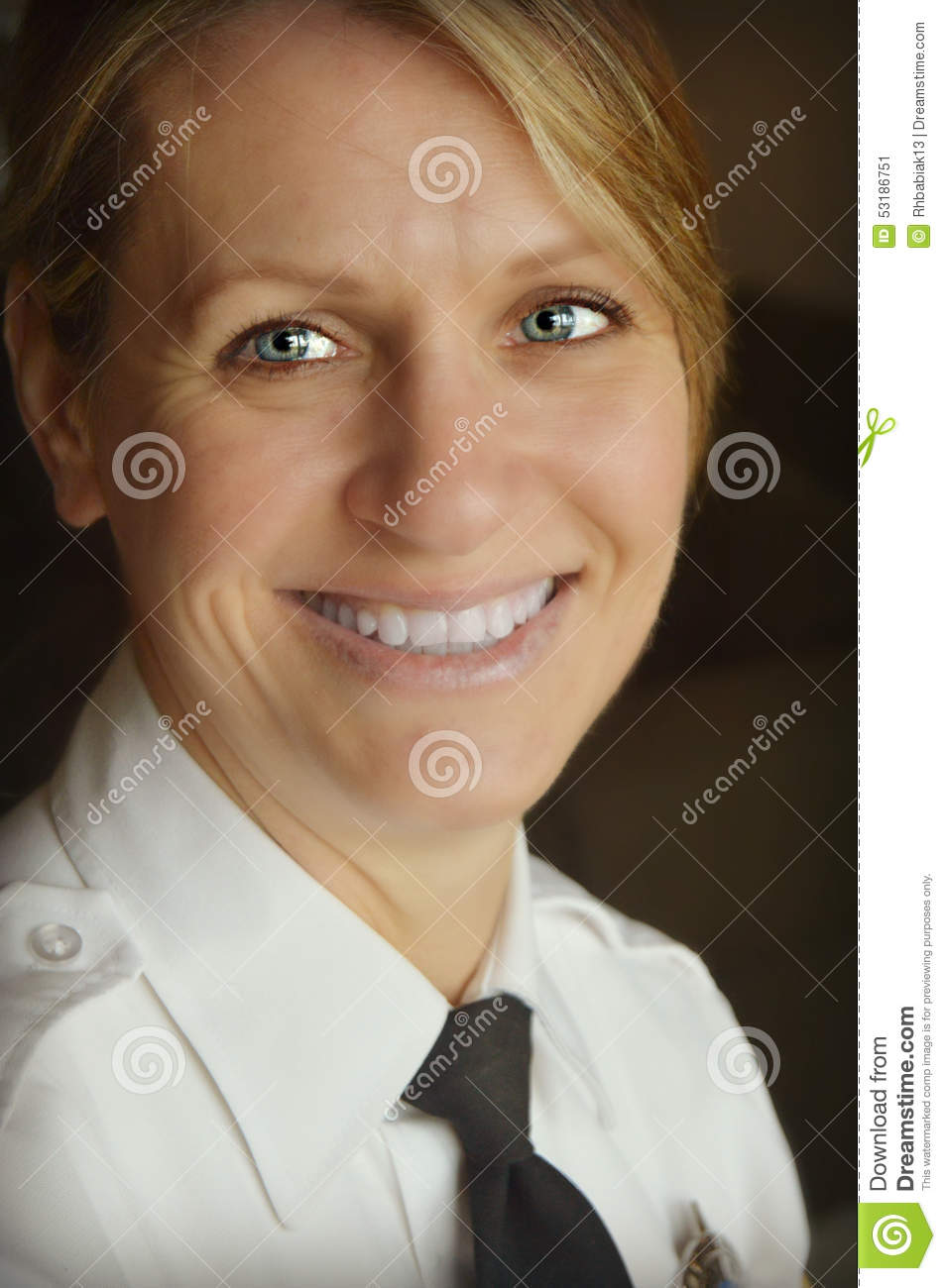 Woman Police Officer Stock Photo Image 53186751