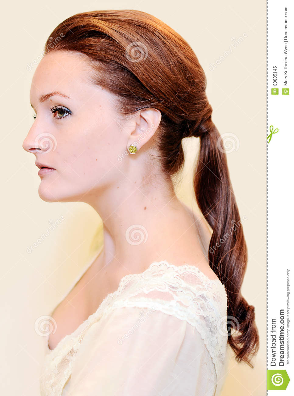 Woman with ponytail